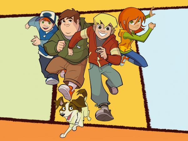 Štyria kamaráti a pes