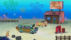 SpongeBob v nohaviciach obrazok