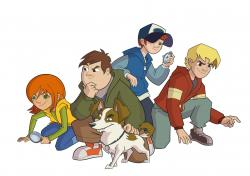 Štyria kamaráti a pes obrazok