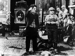 Chaplin vo filmovom ateliéri