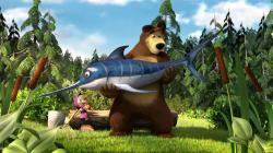 Máša a medveď obrazok