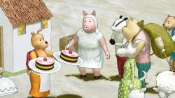Piknik s tortou obrazok